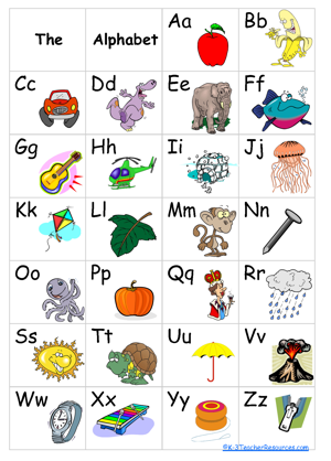 alphabet board color