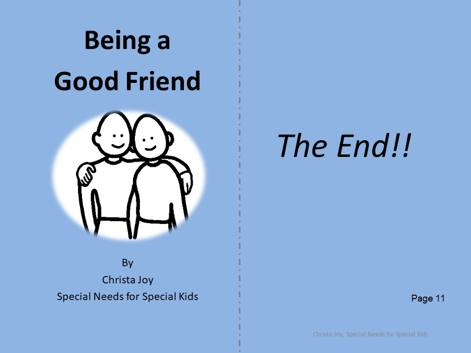 Being a Good Friend student booklet