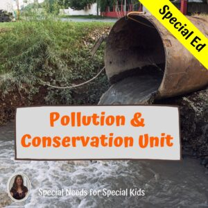 Pollution and Conservation Unit for Special Education with lesson plan