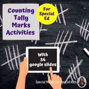 Tally Marks and Special Education with digital activities | Distance Learning