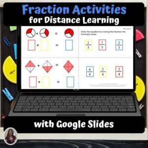 Fraction Activities for Special Education with google slides | Distance Learning