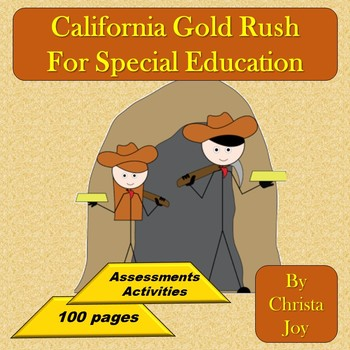 California Gold Rush for kids print only