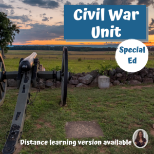 Civil War unit for Special Education