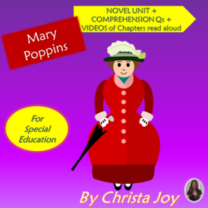 Mary Poppins Novel Study for Special Ed