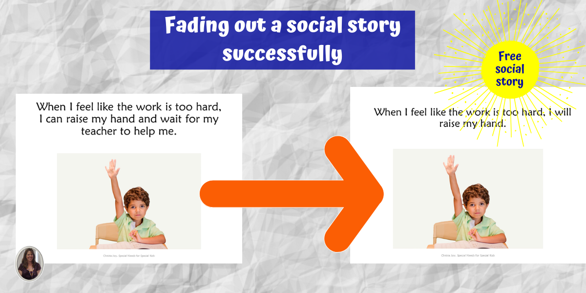Fading out social stories