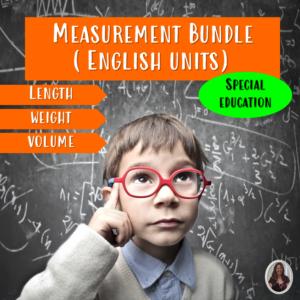 Measurement Bundle for Special Education   English Units