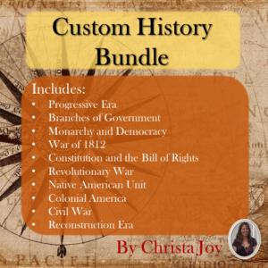 US History units bundle