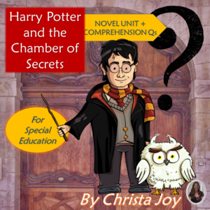 Harry Potter and the Chamber of Secrets with comprehension questions