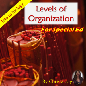 Levels of Organization for Special Education cover