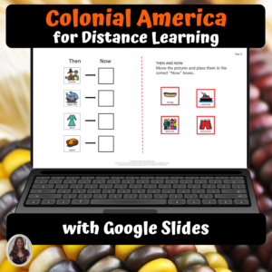 Colonial America unit for special ed and distance learning