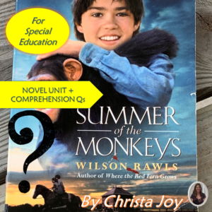 Summer of the Monkeys Novel Unit Bundle