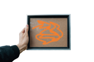 picture frame with marker