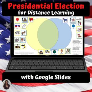 Presidential Election for Special Ed for google classroom | Distance learning