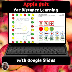 Apple Unit for Special Education for distance learning