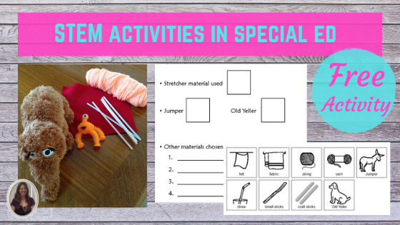 STEM activities in special ed with free activity