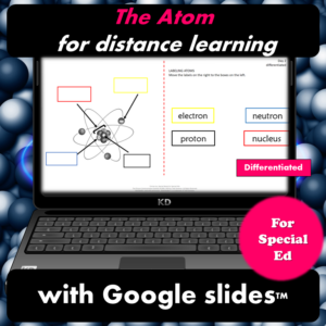 The Atom Unit for Special Ed for google classroom | Distance learning