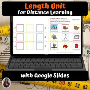 Measuring Length Digital Unit for Special Education | Distance learning