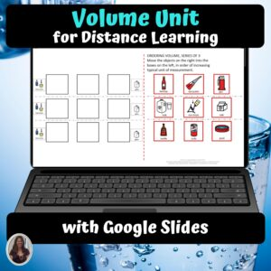 Measuring Volume Digital Unit for Special Education | Distance learning