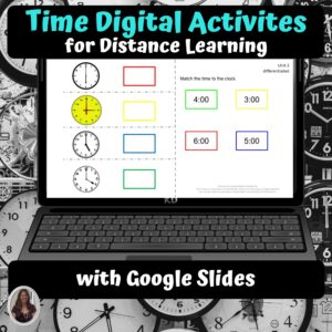 Telling Time Digital Activities for Special Education | Distance Learning