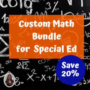 Custom math bundle for special education