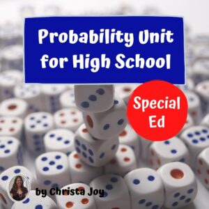 Probability for Special Ed with lesson plans