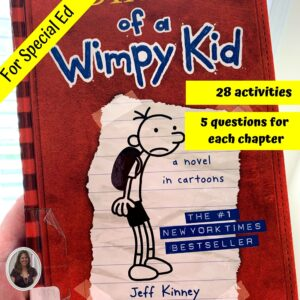 Diary of a Wimpy Kid #1 Novel Study for Special Ed