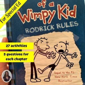 Rodrick Rules Diary of a Wimpy Kid #2 Novel Study for Special Ed