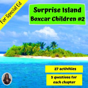 Surprise Island: Boxcar Children #2 Novel Study for Special Ed with questions