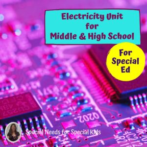 Electricity & Circuits Unit for Special Education