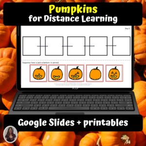 Pumpkin Digital Unit for google classroom | Distance learning