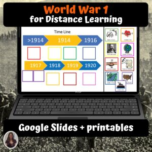World War 1 Digital Unit for google classroom | Distance learning