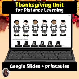 Thanksgiving Digital Unit for google classroom | Distance learning