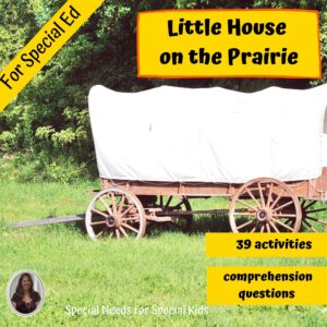 Little House on the Prairie Novel Study for Special Ed with questions