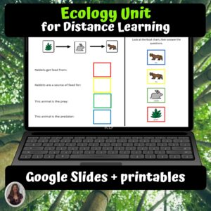 Ecology Digital Unit for google classroom | Distance learning