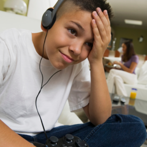 frustrated kid at computer