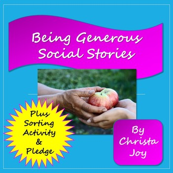 Being Generous social story unit for special ed