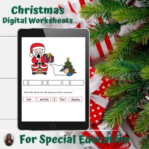 Christmas Digital Worksheets for Special Education | Distance Learning