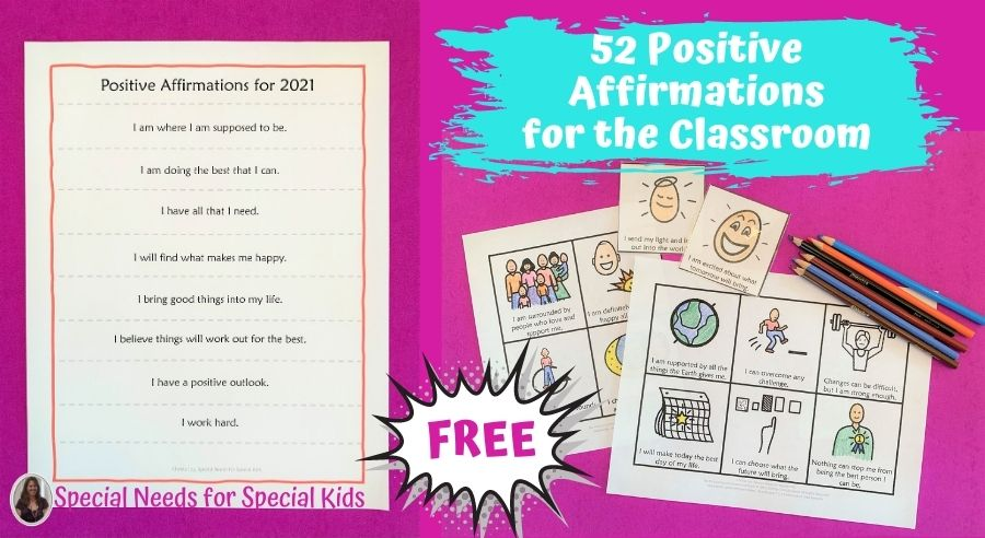 52 positive affirmations to use in the classroom for 2021