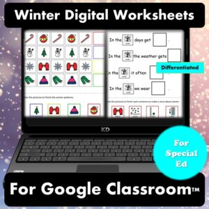 Winter Digital Worksheets for Special Education | Distance Learning