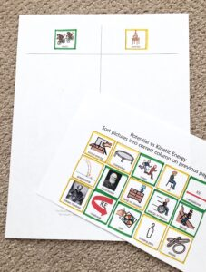 color coded worksheet using only outlines