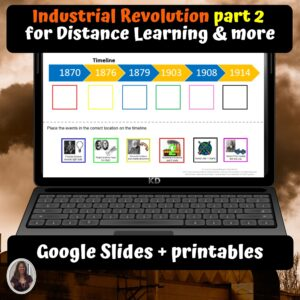 Industrial Revolution part 2 Unit for google classroom | Distance learning