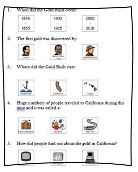 California Gold Rush assessment