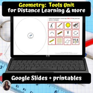 Geometry Tools Unit for Special Ed for google classroom | Distance learning