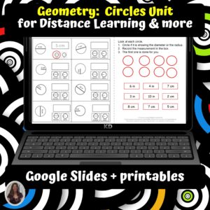 Geometry Circles Unit for Special Ed for google classroom | Distance learning