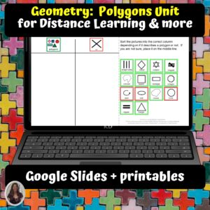 Geometry Polygons Unit for Special Ed for google classroom | Distance learning