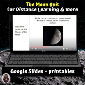 The Moon Unit for Special Ed for google classroom | Distance learning