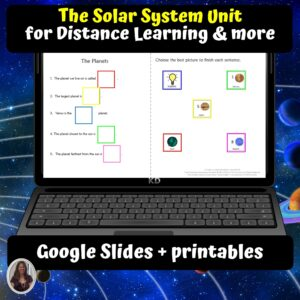 The Solar System Unit for Special Ed for google classroom | Distance learning