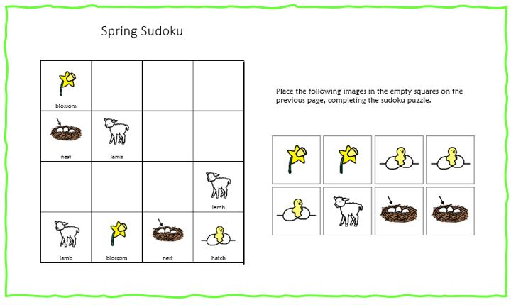 Use a sudoku to teach and review new vocabulary