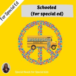 Schooled Novel Study for Special Education with chapter questions