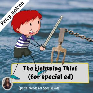 Percy Jackson and The Lightning Thief Novel Study for Special Education